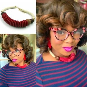 """3 for $30 """"Red Rope"""" Statement Necklace"""